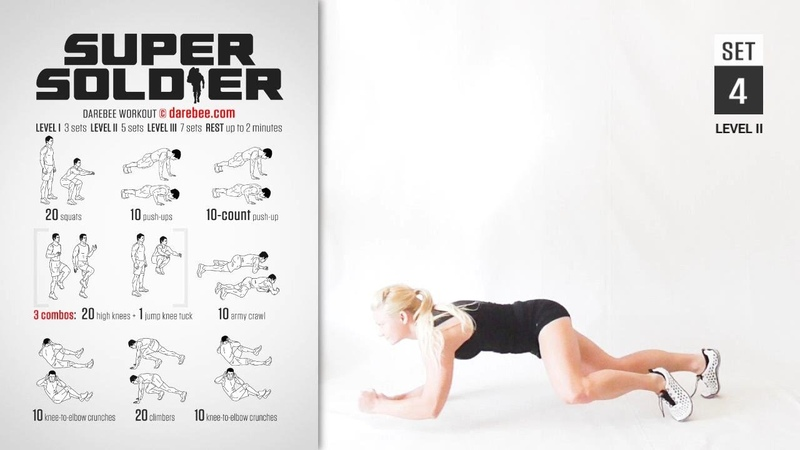 Super Soldier Workout by DAREBEE [ FULL ] [ Strength Tone ] [ 30 Minutes ]