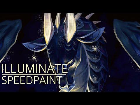 ILLUMINATE digital speedpaint | MEDIBANG PAINT PRO