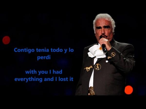 Vicente Fernandez Estos Celos letra en inglés y español
