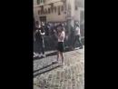 Видео от фанатов: Zhu Yi Long и Angelababy на Piazza di Spagna (Рим) @ 16.09.18