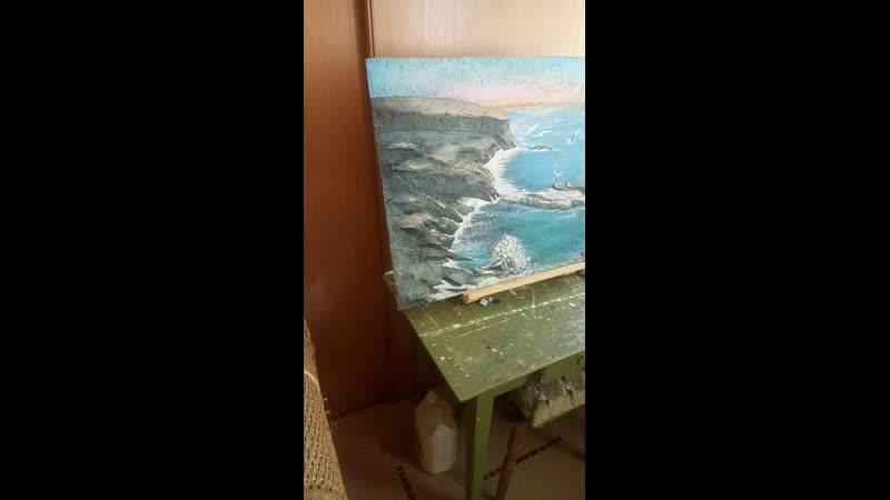 Морской пейзаж барельеф авторская работа Зырянова 🤚 Курсы обьемной лепки и в наличии на продажу 🙌 🎨