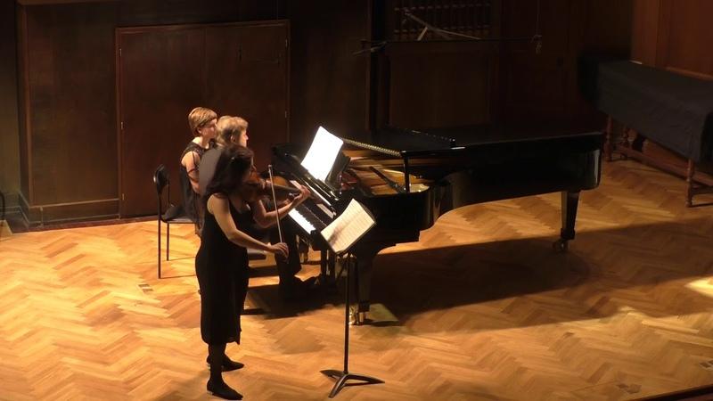 Бетховен: Соната для скрипки и фортепиано № 3, исп. Лиана Гурджия (скрипка) Пётр Лаул (фортепиано)