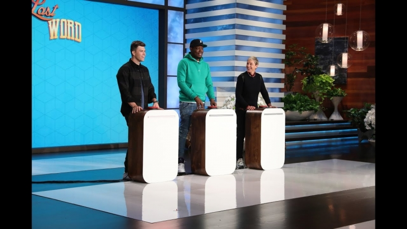 Colin Jost, Michael Che and Ellen Play Last Word