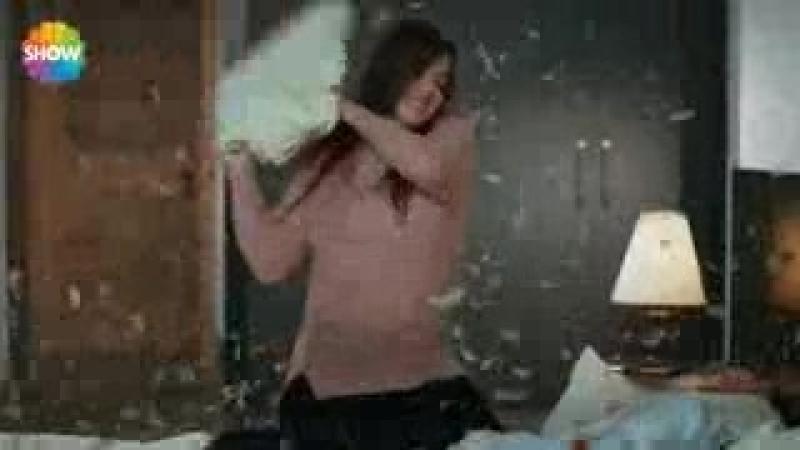 Aşk Laftan Anlamaz 24.Bölüm _ Hayat ve Murat - Yastık savaşı_