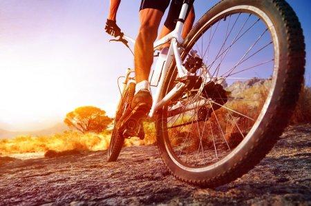 Езда на велосипеде с палками в колесах
