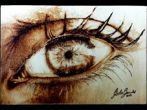 HOW I DID IT Simply a woman's eye Pyrography tutorial