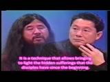 Shoko Asahara with Takeshi Kitano (English subtitles)