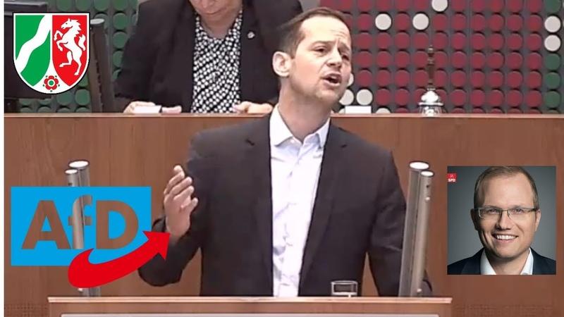 Rede von Roger Beckamp (AfD) bringt SPD-Mann zum toben ► NRW-Landtag