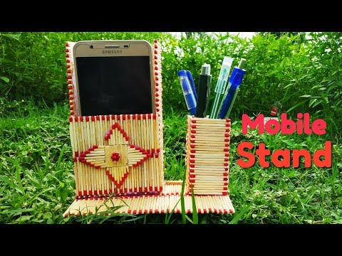 Home made Matchstick mobile and pen holder। matchstick art and craft idea.
