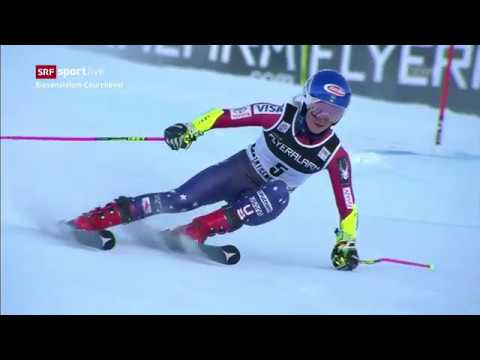 Mikaela Shiffrin - 1st and 2nd run - wins the giant slalom - Courchevel, France - 12.19.2017