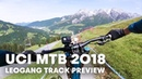 POV track preview with Loïc Bruni at Leogang Austria UCI MTB 2018