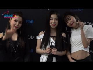 180523 Red Velvet @ '2018 Korea Times Music Festival in LA' Interview