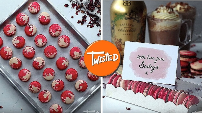 How To Make Baileys Valentine's Macarons | Perfect Macarons Recipe | Sweet Treats | Twisted