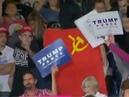 Парень с флагом СССР прервал выступление Дональда Трампа