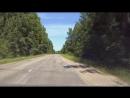 Дорожники наносят разметку на дорогу - нано технология (Боровичский район)