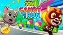 ГОВОРЯЩИЙ ТОМ БЕГ ЗА СЛАДОСТЯМИ 1 ДРУЗЬЯ Бен Хэнк Джинджер! Игровой мультик Talking Tom Candy Run