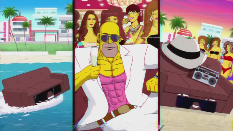 LA-Z Rider Couch Gag From Guest Animator Steve Cutts - Season 27 - THE SIMPSONS.mp4