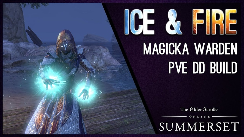 Magicka Warden Build PvE IceFire - Summerset Chapter ESO