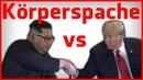 Kim Jong Un vs Donald Trump Körpersprache Analyse - Singapore Summit