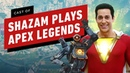 Zachary Levi Cast of Shazam Play Apex Legends for the First Times