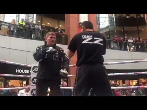 ZZ GOING TO THE TOP? - RICKY HATTON'S ZHANAT ZHAKIYANOV HAMMERS THE PADS AHEAD OF BURNETT CLASH
