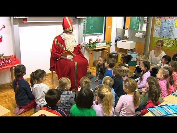 Nikolaus besucht Franz-von-Assisi-Schule