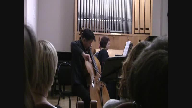 Н.Я. Мясковский Соната для виолончели и фортепиано №2, ля-минор. Исполняют Екатерина Лоренц и Максим Ноговицын