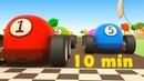Le nuove gare di corsa! macchinine colorate e go kart! - compilation di 10 minuti