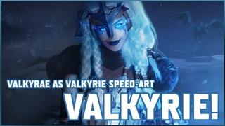 VALKYRAE AS FORTNITE'S 'VALKYRIE' COSPLAY EDIT *SPEED-ART*