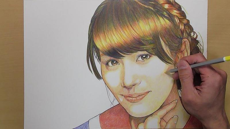 【Speed drawing】色鉛筆でPerfumeを描く【あーちゃん】【西脇綾香】