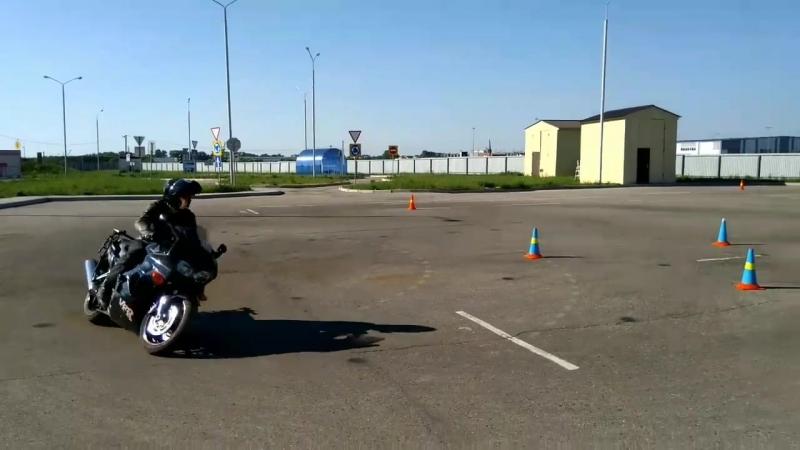 Gymkhana GP 2018 stage2 Майоров Павел Honda VFR fi heat 2