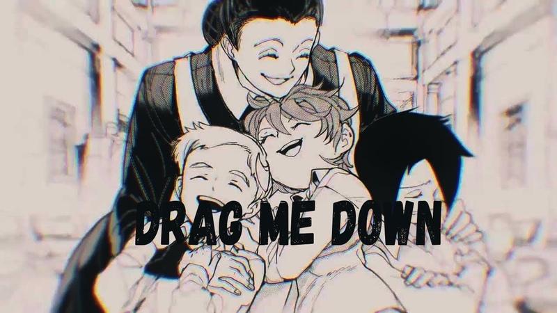 「AMV」Обещанный Неверленд / Yakusoku no Neverland -Drag Me Down (Cover)