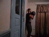 Жим гири 24 кг. стоя у стены. Для соревнований в группе ФСУ.