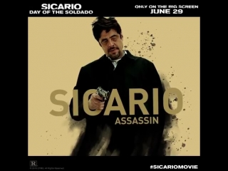 A Sicario an Assassin. Experience Benicio Del Toro and Josh Brolin in SicarioMovie this Friday.