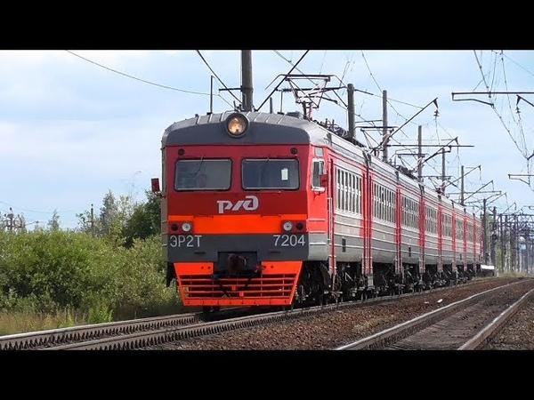 ЭР2Т-7204 сообщением Оредеж - Санкт-Петербург в о.п. Детскосельская