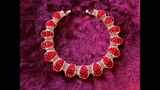 Red Carpet Necklace . DIY Beaded Necklace. Right Angle Weave