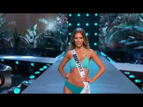 MISS ARGENTINA - Bikini - Miss Universe 2018 4k - Мисс Аргентина - Мисс Мира 2018 бикини показ