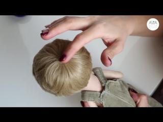 Кукла  мальчик-  крепление  волос
