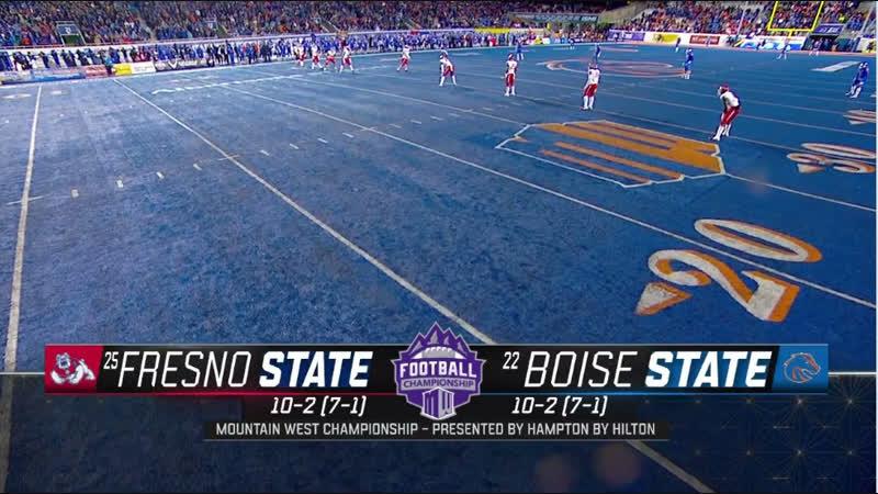 NCAAF 2018 / Week 14 / Mountain West Championship / (25) Fresno State Bulldogs - (22) Boise State Broncos / 2H / EN