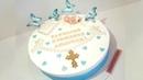 Крестик и Ангел из Мастики. Торт на Крестины.