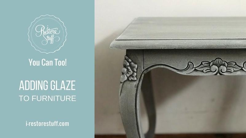 Adding Glaze to Furniture