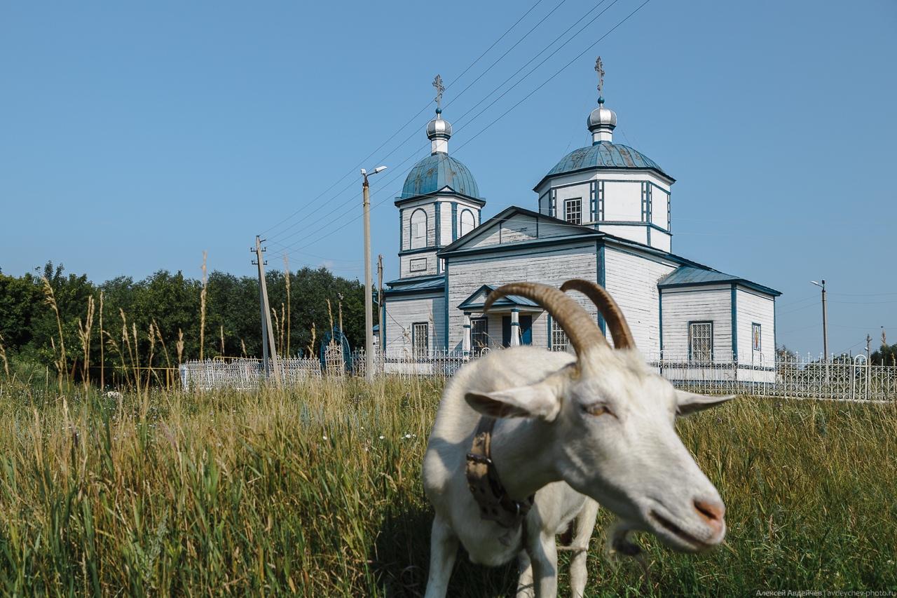 Село Малая Малышевка, деревянная церковь Михаила Архангела