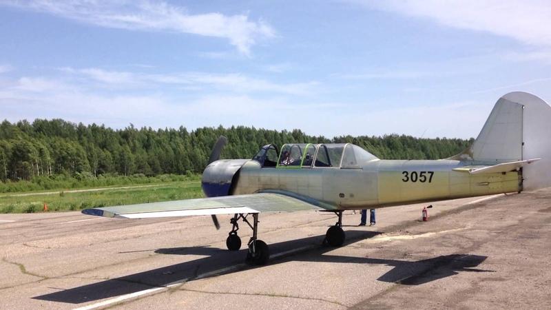 Як 52 запуск двигателя / Yak 52 start engine