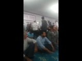 Turkey Kurdish Muslims leave a mosque in occupied Kurdistan after hearing the Turkish imam praising criminal Turkish dictator Er