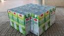 Adoquines caseros con molde cartón de leche.