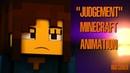 RUS COVER Judgement Музыкальный клип из Minecraft UNDERTALE