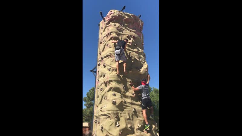 GCC climbing 🧗♂️ the wall
