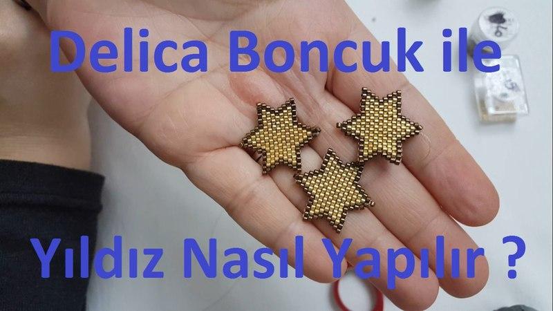 Delica boncukla yıldız nasıl yapılır