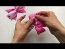 Новый бантик из лент МК Канзаши Алена Хорошилова tutorial pap diy ribbon bow laço de fitas kanzashi