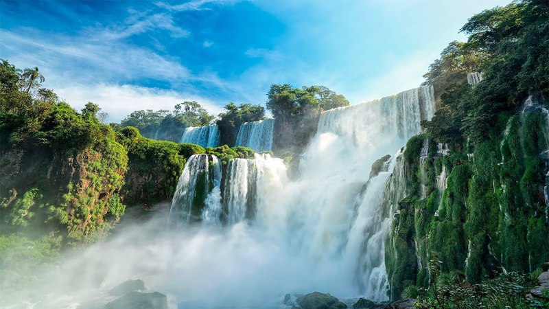 WORLDS PARADISES IN 4K UHD (No Watermarks!) Nature Film Music to Relax, Study Relieve Stress